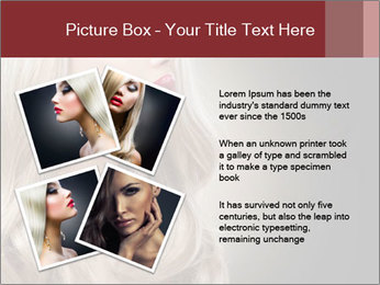 Beautiful Sexy Blond Girl PowerPoint Templates - Slide 23