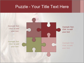 Beautiful Sexy Blond Girl PowerPoint Templates - Slide 43