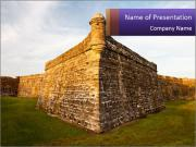 Spanish colonial fortress PowerPoint Templates