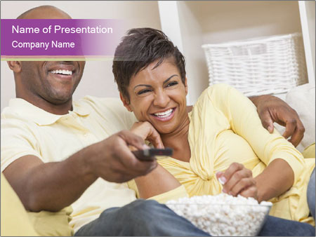 A happy African American man PowerPoint Templates