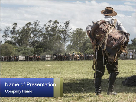 Gaucho in the campo PowerPoint Templates
