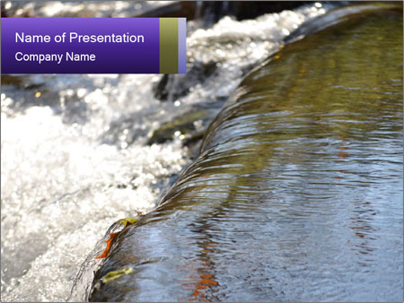 Water Flowing PowerPoint Templates