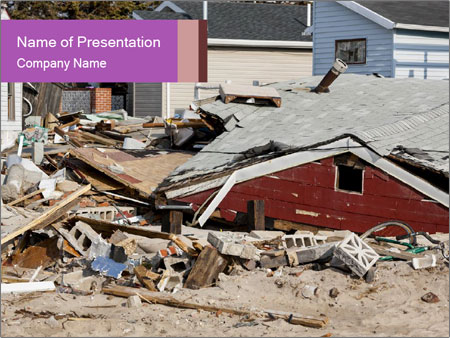 After more than a month from Hurricane Sandy PowerPoint Templates