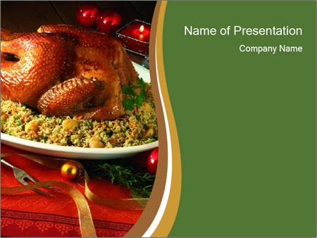 Christmas food PowerPoint Templates