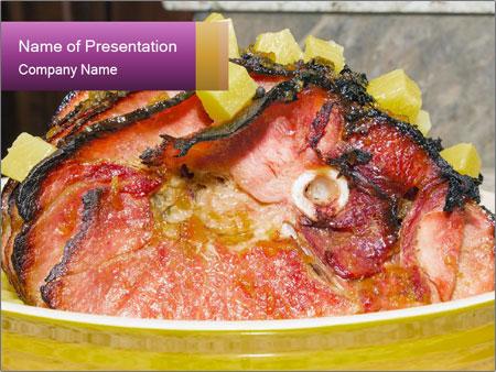 Baked Spiral Cut Honey Bone PowerPoint Templates