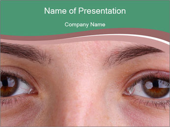 Opened woman's eye PowerPoint Templates - Slide 1