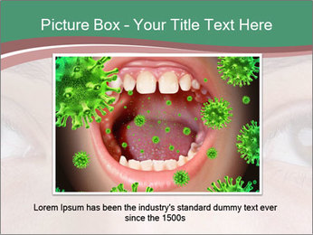 Opened woman's eye PowerPoint Templates - Slide 15