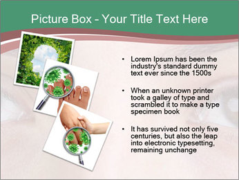 Opened woman's eye PowerPoint Templates - Slide 17