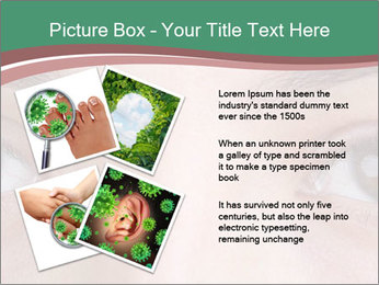 Opened woman's eye PowerPoint Templates - Slide 23
