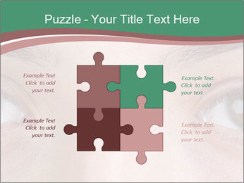 Opened woman's eye PowerPoint Templates - Slide 43