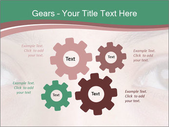 Opened woman's eye PowerPoint Templates - Slide 47