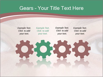 Opened woman's eye PowerPoint Templates - Slide 48