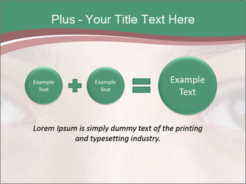 Opened woman's eye PowerPoint Templates - Slide 75