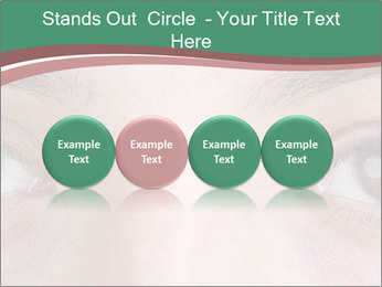 Opened woman's eye PowerPoint Templates - Slide 76