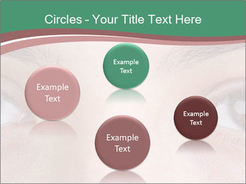 Opened woman's eye PowerPoint Templates - Slide 77