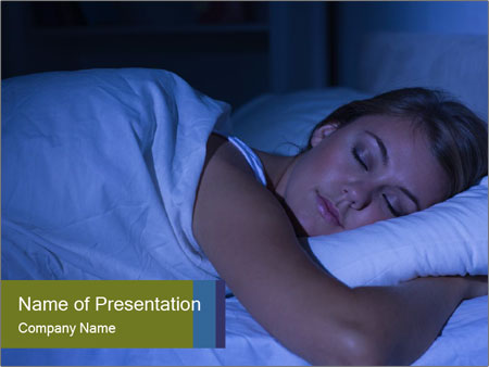 Serene woman sleeping PowerPoint Template