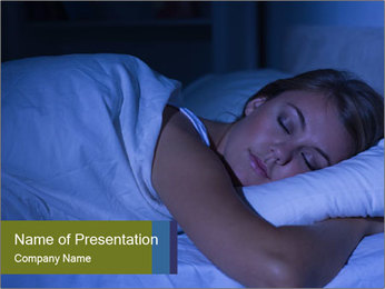 Serene woman sleeping PowerPoint Template - Slide 1