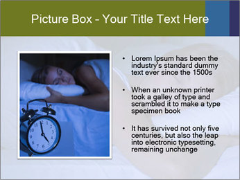 Serene woman sleeping PowerPoint Template - Slide 13