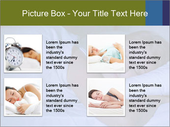 Serene woman sleeping PowerPoint Template - Slide 14