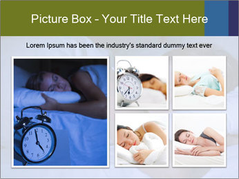 Serene woman sleeping PowerPoint Template - Slide 19
