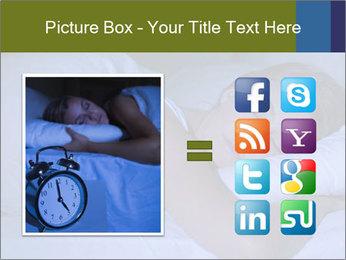 Serene woman sleeping PowerPoint Template - Slide 21