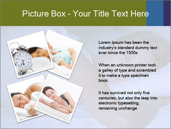 Serene woman sleeping PowerPoint Template - Slide 23