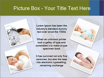Serene woman sleeping PowerPoint Template - Slide 24