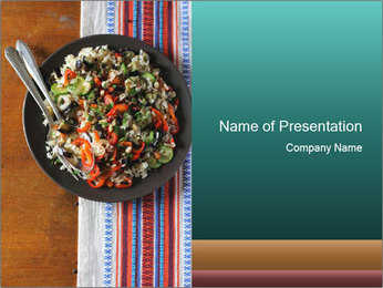 Fresh healthy juicy vegetables PowerPoint Templates - Slide 1