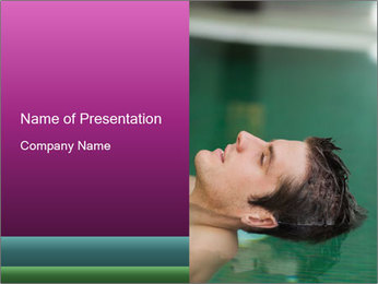 Relaxed handsome man PowerPoint Template - Slide 1