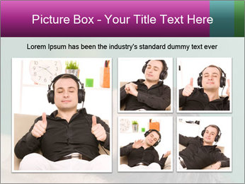Relaxed handsome man PowerPoint Template - Slide 19