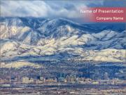 Salt Lake City Utah USA PowerPoint Templates