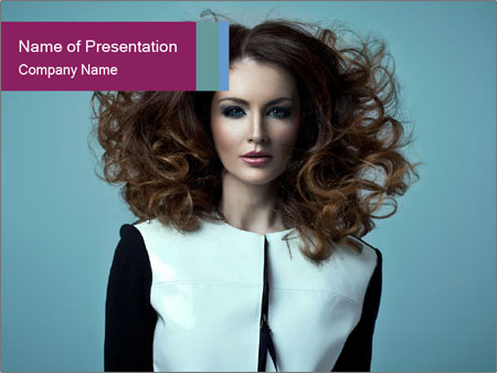 Beautiful sexy girl PowerPoint Templates