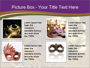 Old golden Venetian masks PowerPoint Template - Slide 14