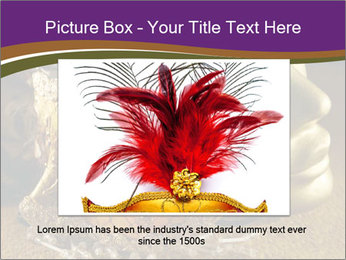 Old golden Venetian masks PowerPoint Template - Slide 15