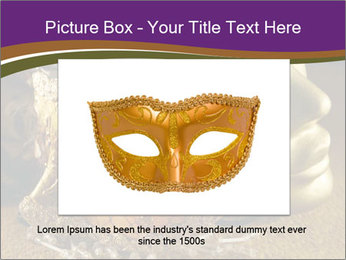 Old golden Venetian masks PowerPoint Template - Slide 16