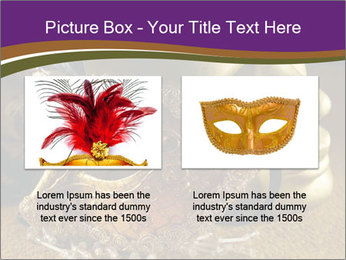 Old golden Venetian masks PowerPoint Template - Slide 18