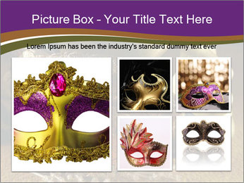 Old golden Venetian masks PowerPoint Template - Slide 19