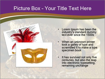Old golden Venetian masks PowerPoint Template - Slide 20