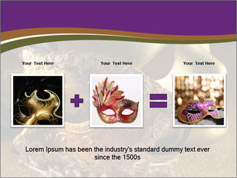 Old golden Venetian masks PowerPoint Template - Slide 22