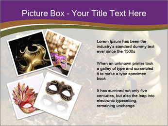 Old golden Venetian masks PowerPoint Template - Slide 23