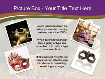 Old golden Venetian masks PowerPoint Template - Slide 24
