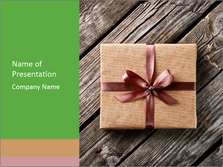 Vintage gift box PowerPoint Templates