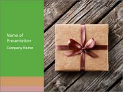 Vintage gift box PowerPoint Template