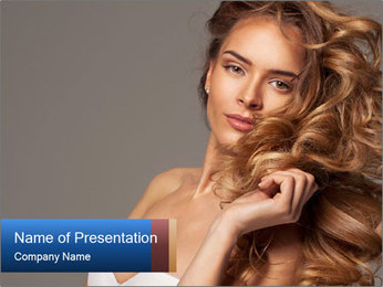 Fashion photo of blonde beauty PowerPoint Template - Slide 1