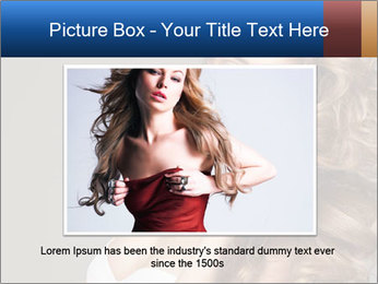 Fashion photo of blonde beauty PowerPoint Template - Slide 15