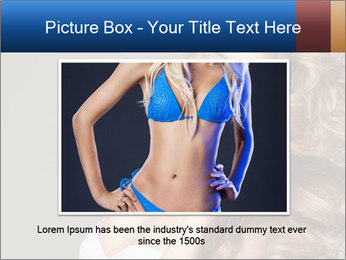 Fashion photo of blonde beauty PowerPoint Template - Slide 16