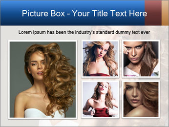 Fashion photo of blonde beauty PowerPoint Template - Slide 19
