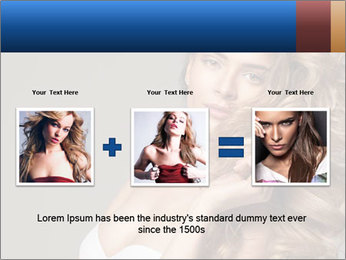 Fashion photo of blonde beauty PowerPoint Template - Slide 22