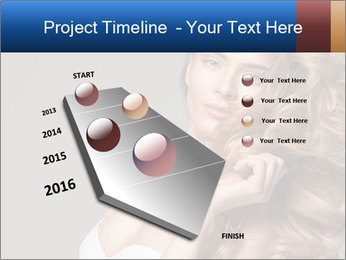 Fashion photo of blonde beauty PowerPoint Template - Slide 26