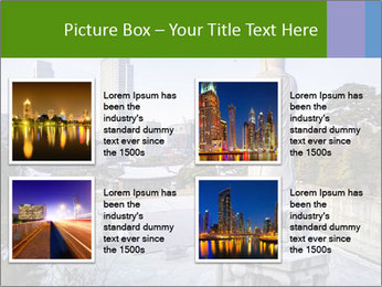 Skyline of downtown PowerPoint Template - Slide 14